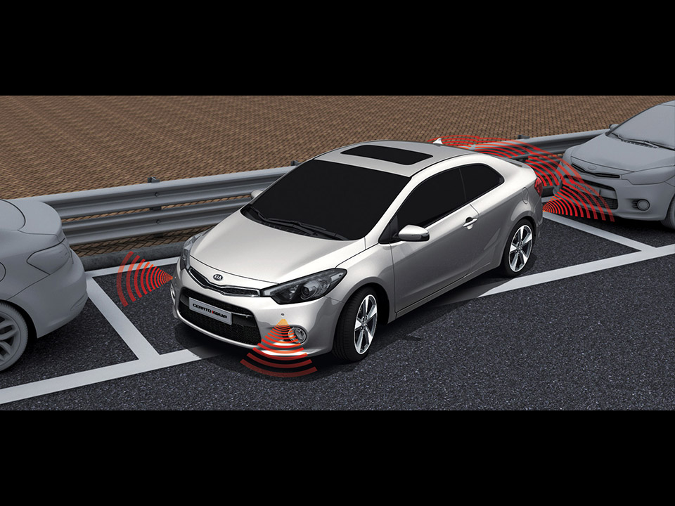 Front and rear parking assist system