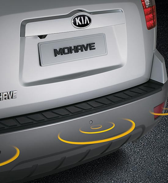 Front and rear parking sensors